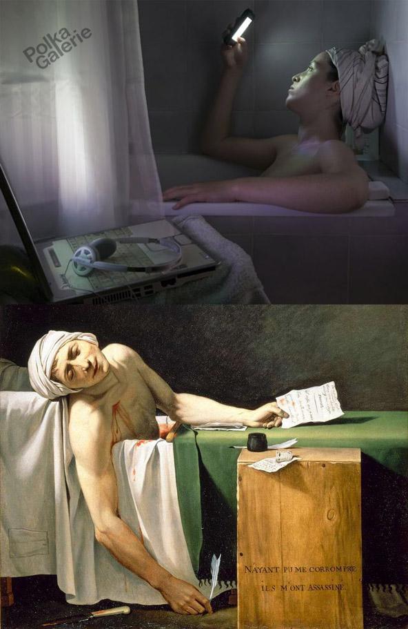 Catherine Balet - Strangers in the light - La mort de Marat