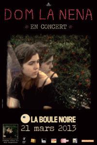 Dom La Nena Concert Boule Noire