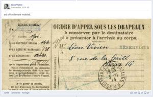 Léon Vivien ordre d'appel