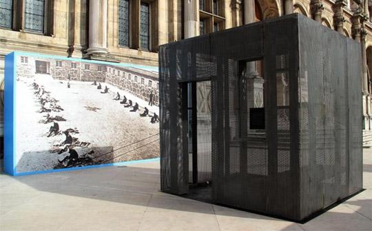 Reproduction de la cellule où Nelson Mandela a été enfermé pendant près de 27 ans