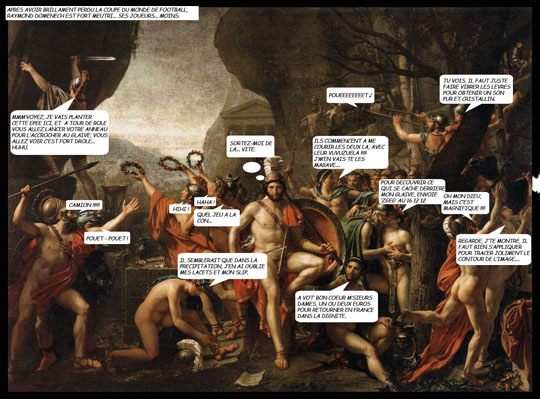David - Leonidas aux Thermopyles