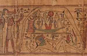Papyrus de Nespakachouty avec représentation de Nout. Égypte, XXIe dynastie, 10-11e siècles av. JC, Paris, Musée du Louvre