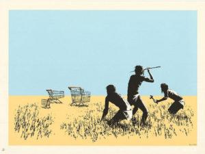 Banksy, Trolleys, 2007