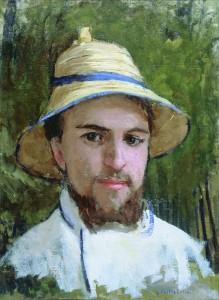 Gustave Caillebotte Autoportrait au chapeau d'été c.1872/1878 Huile sur toile 44x33 cm Collection particulière