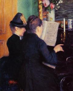 Gustave Caillebotte La leçon de piano 1881 Huile sur toile 81x65 cm Musée Marmottan-Monet