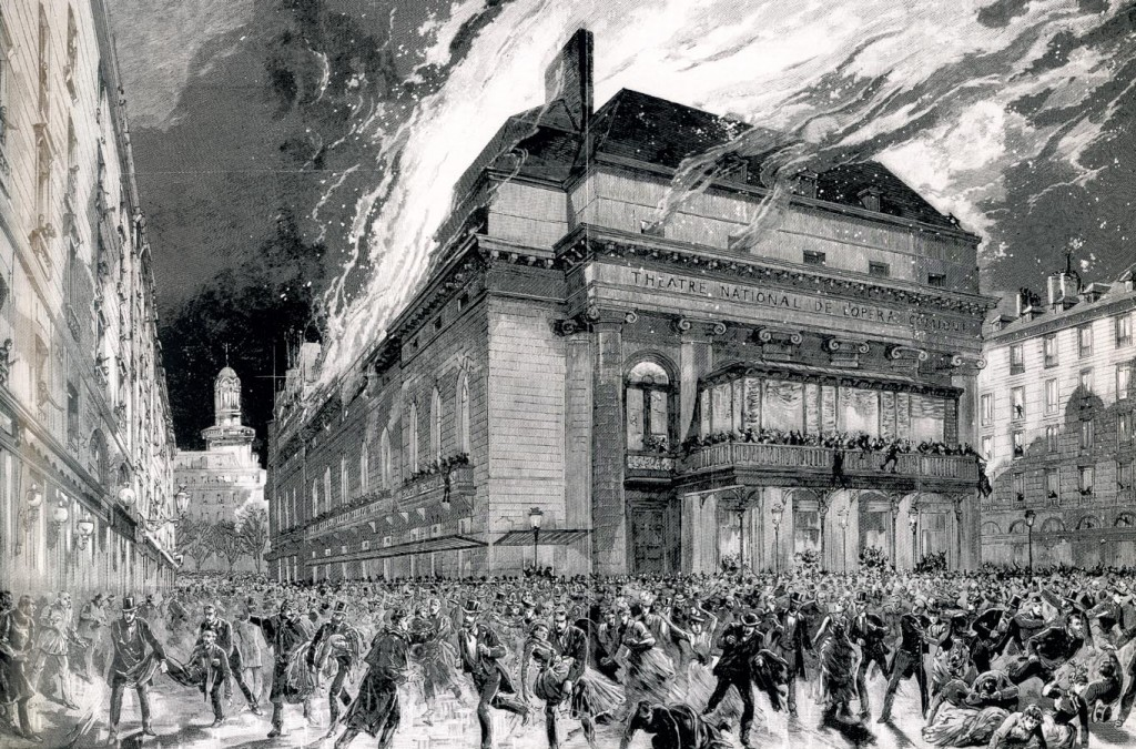 L'incendie de l'Opéra-Comique, 25 mai 1887