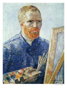 """Autoportrait de Vincent Van Gogh - """"Autoportrait devant le chevalet"""" Giclée, 30 x 41cm 35,99 €"""