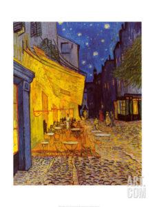 """""""Terrasse de café le soir, place du Forum, Arles, 1888"""" Reproduction d'art, 60 x 80cm 34,99 €"""