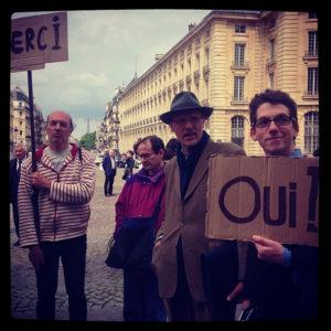 Le merci du collectif anti-pub au Panthéon ©louvrepourtous
