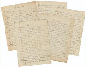 5 lettres autographes signées de Nadja à Breton, vers 1927