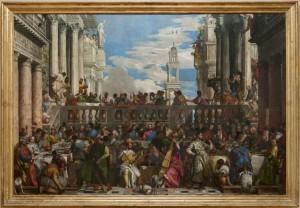 Les Noces de Cana, Véronèse (1563) H. : 6,77 m. ; L. : 9,94 m. Musée du Louvre