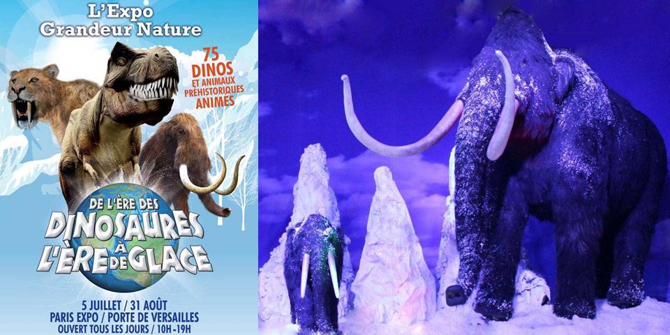 Exposition de l'ère des dinosaures à l'ère de glace