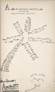 Sotheby's bibliothèque R. et B. L. calligramme de Guillaume Apollinaire