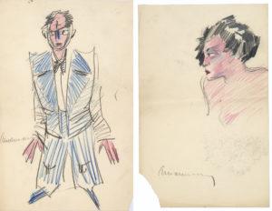 Sotheby's bibliothèque R. et B. L. dessins de saint exupéry autoportrait et consuelo