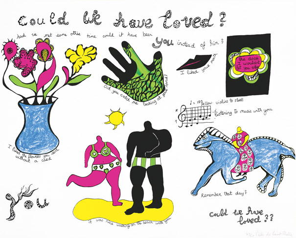 Niki de Saint-Phalle, Could we have loved?, 1968, 59 x 74 cm, sérigraphie, Niki Charitable Art Foudation, Santee, USA