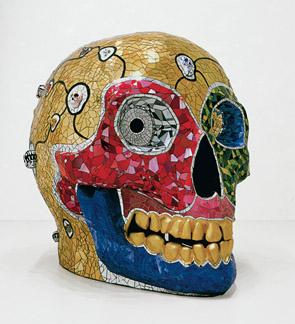 Niki de Saint-Phalle, Skull (Meditation Room), Sprengel Museum, Hanovre, donation de l'artiste en 2000, © 2014 Niki Charitable Art Foundation, All rights reserved / Photo : Michael Herling