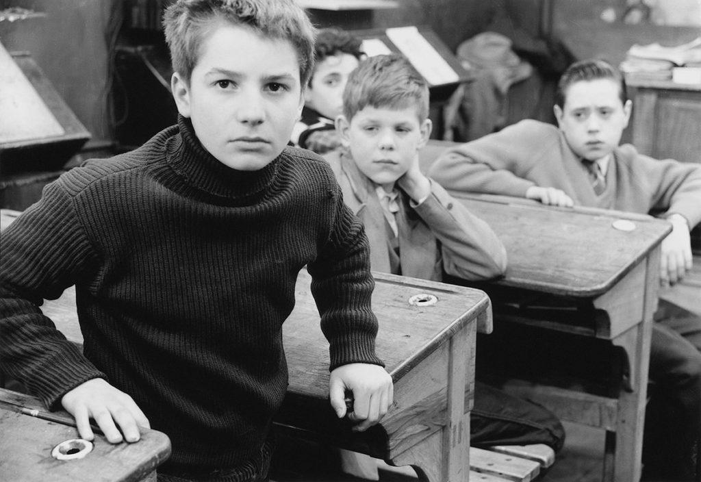 Jean-Pierre Léaud dans Les Quatre Cents Coups de François Truffaut, 1959. Photographie André Dino © André Dino / DR