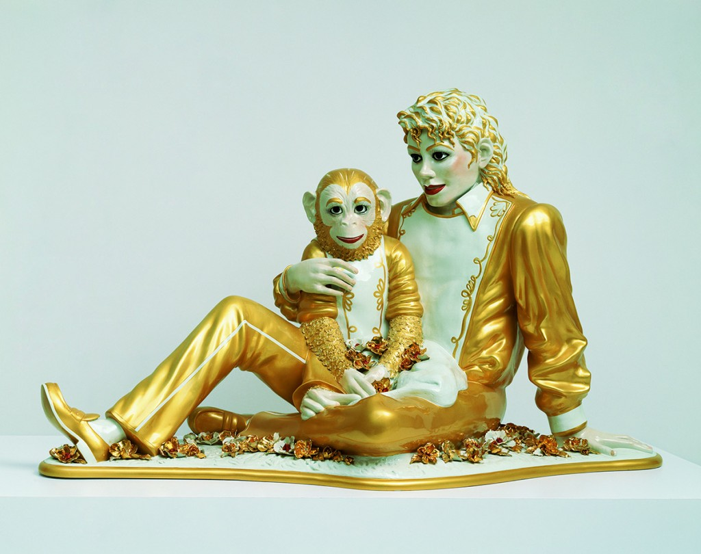 Michael Jackson and Bubbles, 1988, Porcelaine Photo: Douglas M. Parker Studios, Los Angeles, Collection particulière © Jeff Koons