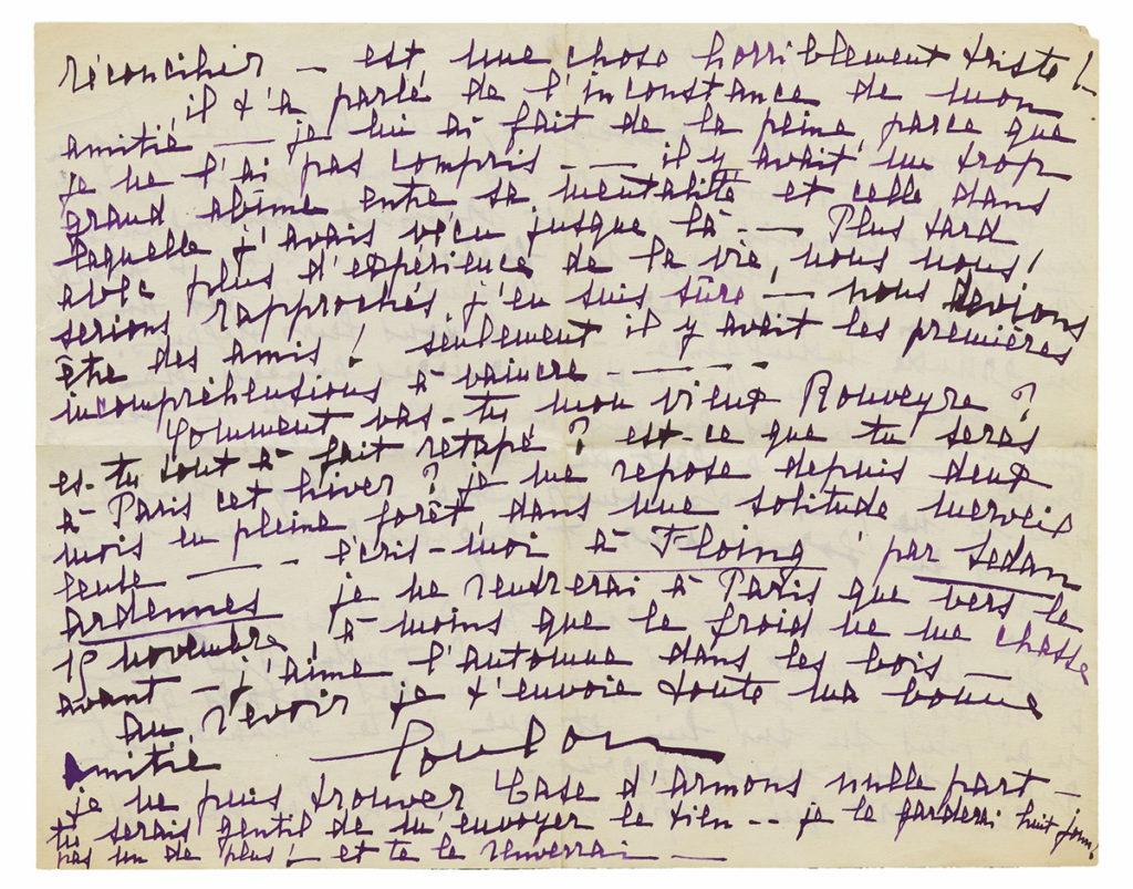 Lettre de Louise De Coligny-Châtillon, Guillaume Apollinaire
