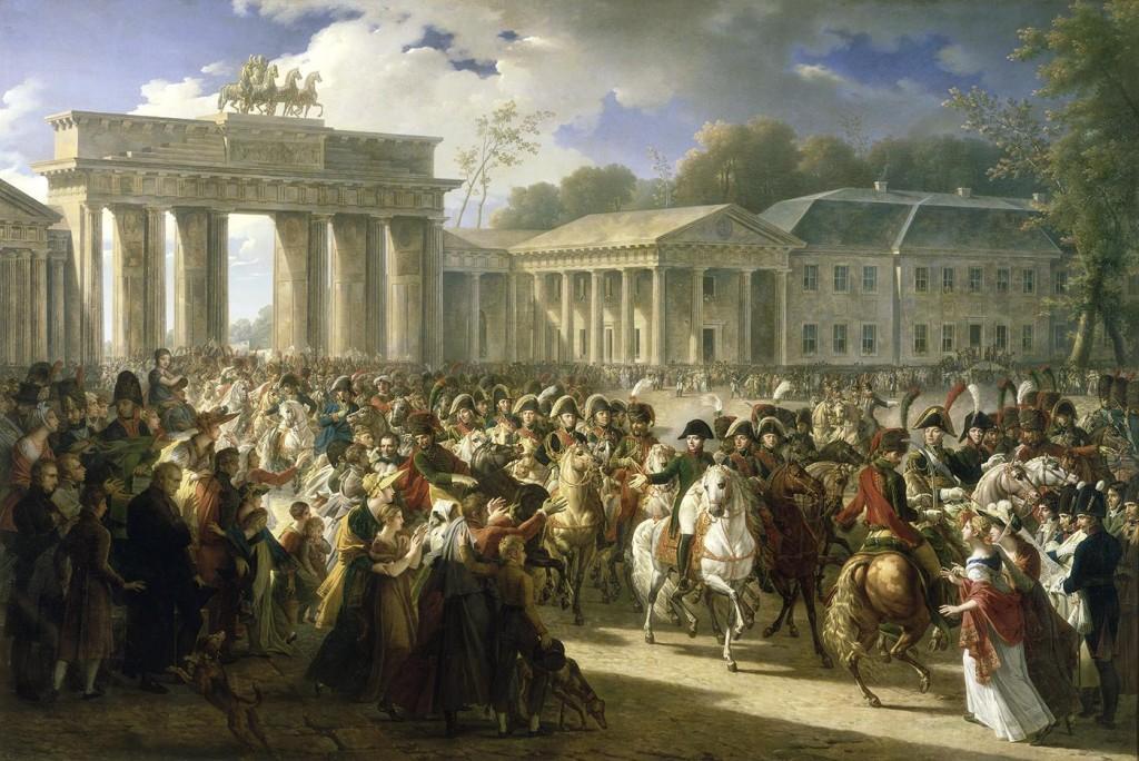 Entrée de Napoléon à Berlin. 27 octobre 1806 Charles Meynier, 1810, 330 x 493 cm, Huile sur toile