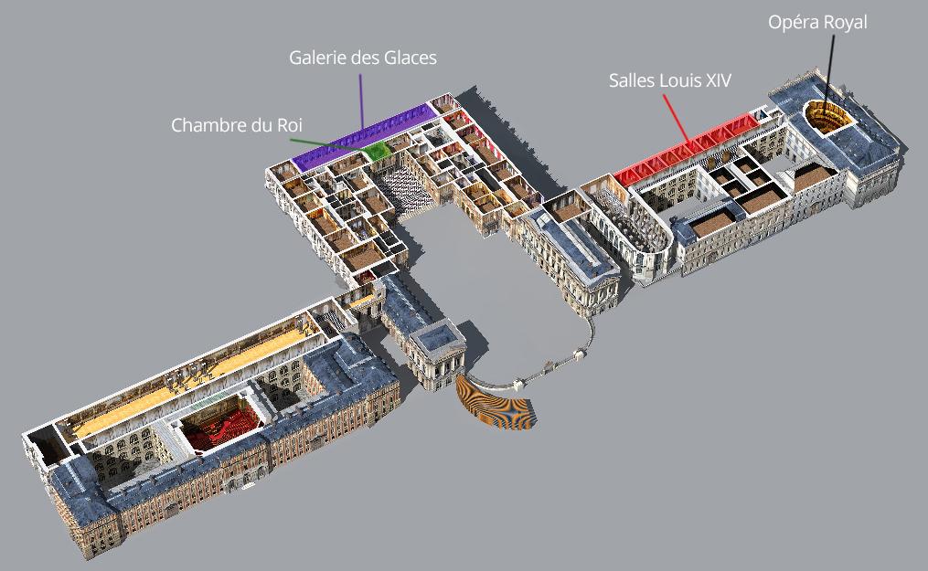 Versailles Salles Louis XIV