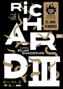 Richard III d'après William Shakespeare - Théâtre de Belleville - Compagnie Nova