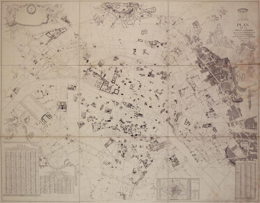 Héliog Dujardin et Edme Verniquet, Plan de la ville de Paris avec nouvelle enceinte de 1791, © Musée Carnavalet/Roger-Viollet