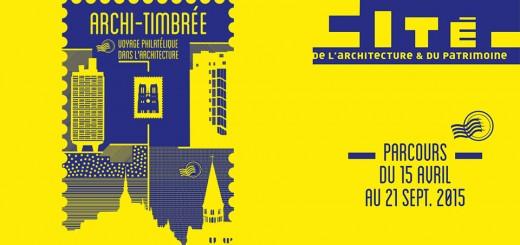 Archi timbée voyage philatélique à la cité de l'architecture et du patrimoine