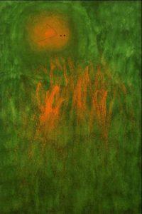 """Miro """"Cheveu poursuivi par deux planètes"""", Miró, 1968"""