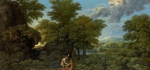 Poussin et dieu musée du Louvre