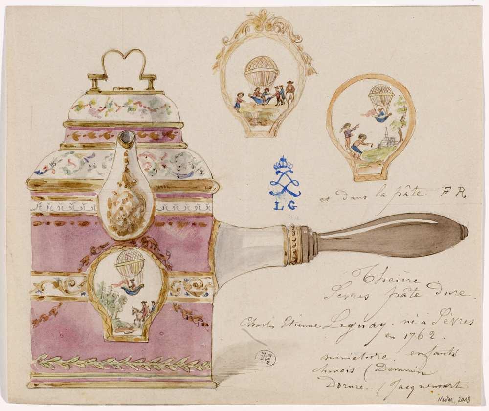 Modèle d'une théière à pâte dure de Sèvres - Charles-Etienne Leguay © Musée Carnavalet Roger-Viollet