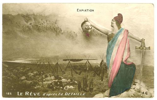 Carte le Rêve Detaille marianne guillaume II 1915