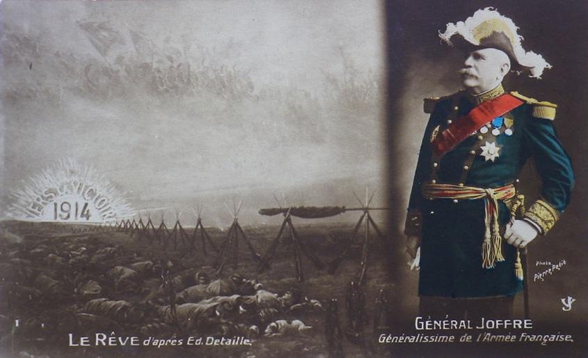Carte Le rêve de détaille général joffre 1914