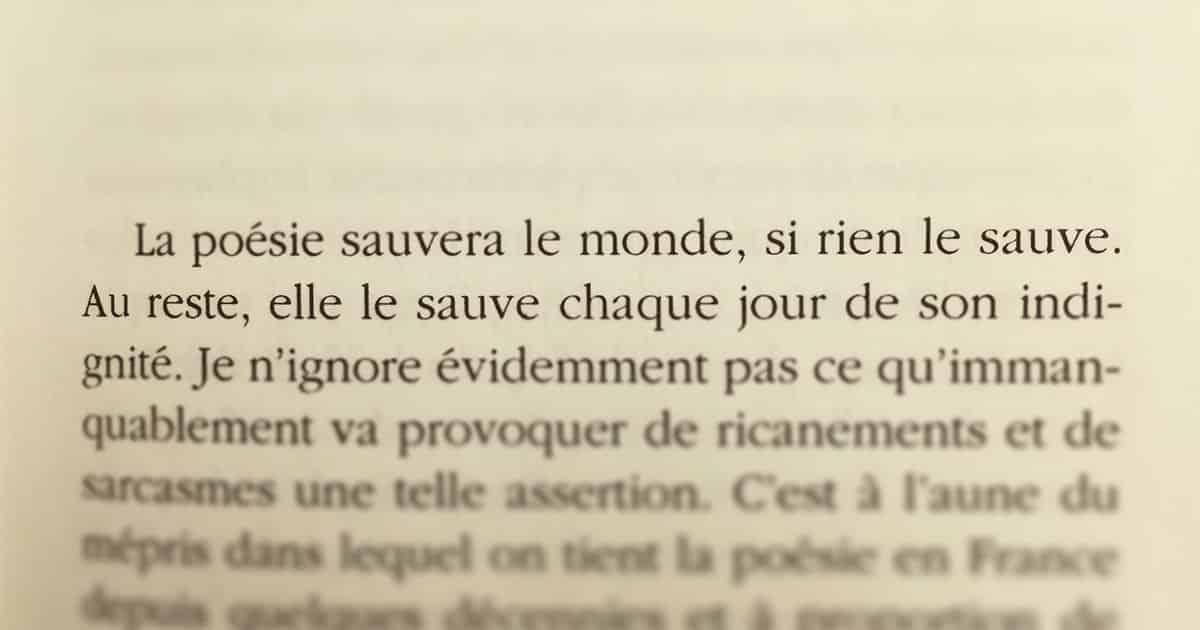 Jean-Pierre Siméon, la Poésie Sauvera le Monde