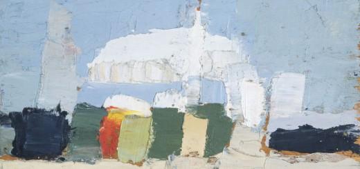Nicolas de STAËL (1914-1955), Le Lavandou, 1952, huile sur contreplaqué, 12x18cm. Collection privée. © J.L. Losi — © ADAGP, Paris, 2014