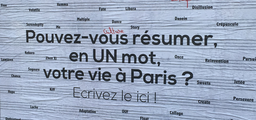 Victor Guérin - Un mot pour résumer Paris