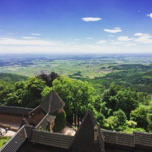 La vue depuis le château du Haut-Koenigsbourg