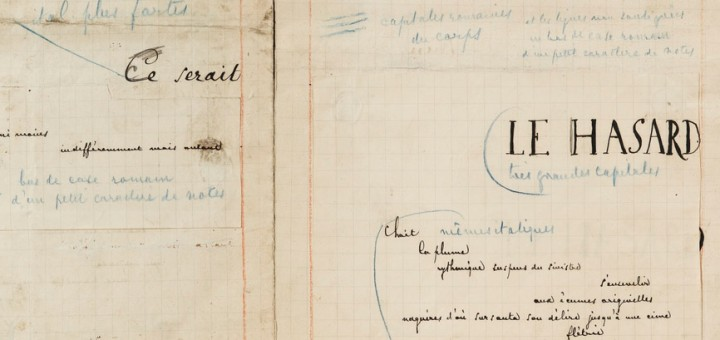 Mallarmé manuscrit un coup de dés