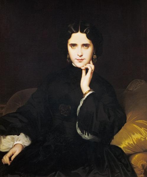 Amaury-Duval, Madame de Loynes, 1862, huile sur toile, musée d'Orsay, Paris, France. ©photo musée d'Orsay / rmn