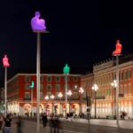 Conversation, Place Masséna à Nice (Côte d'Azur)