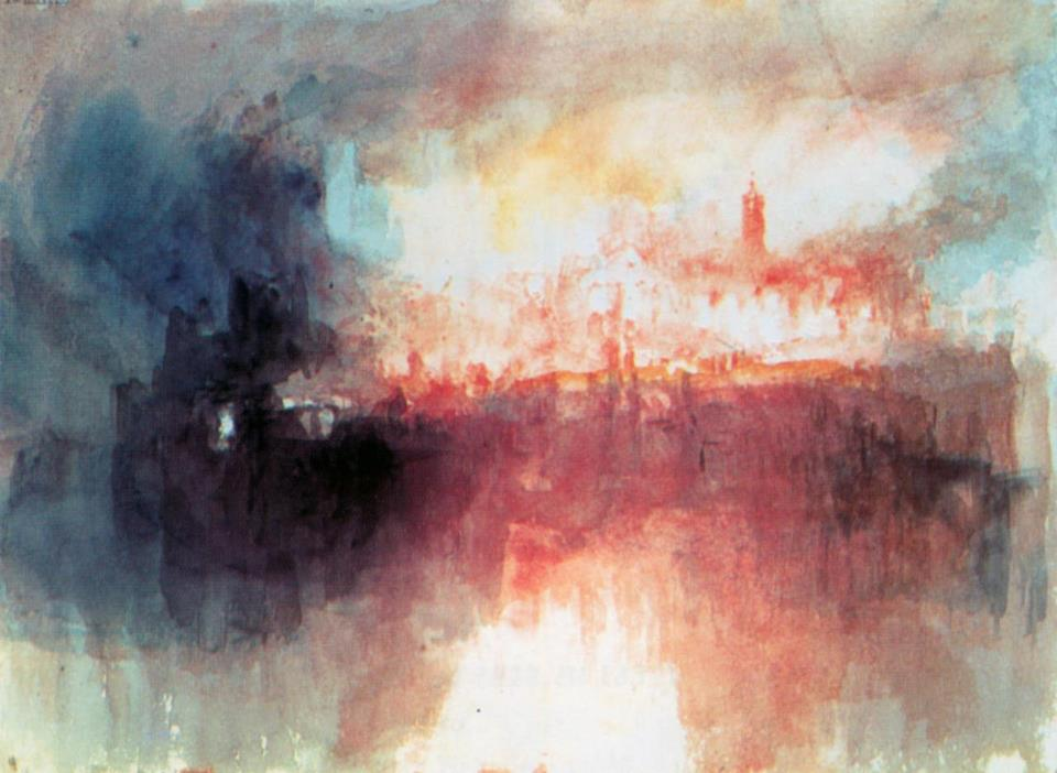 Joseph Mallord William Turner - Fire at the Grand Storehouse of the Tower of London © Tate