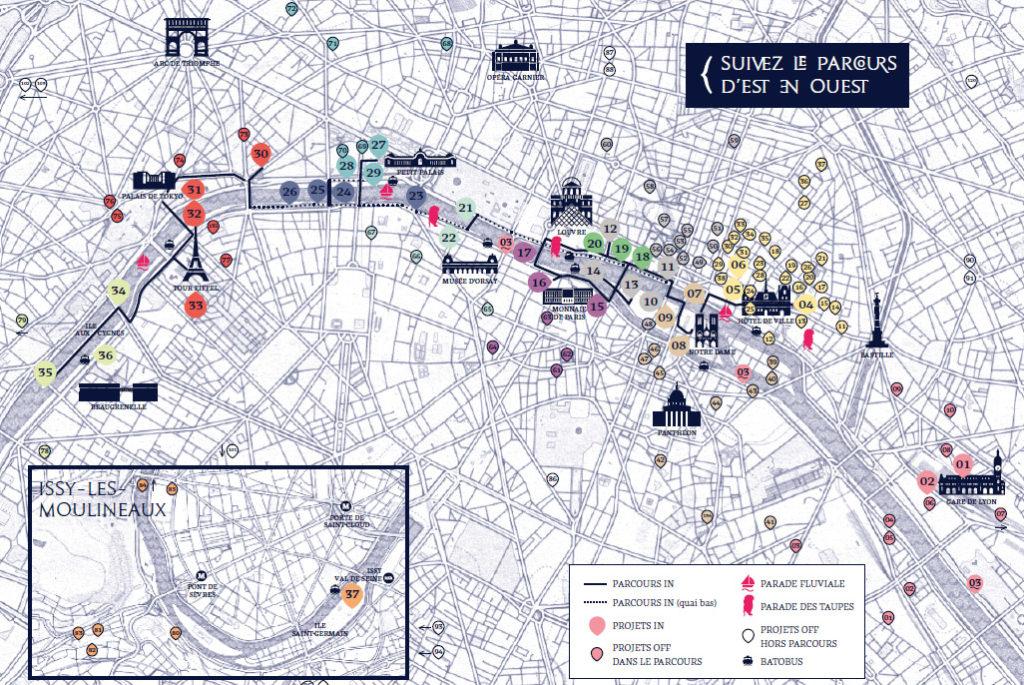 Parcours de Nuit Blanche 2016 à Paris