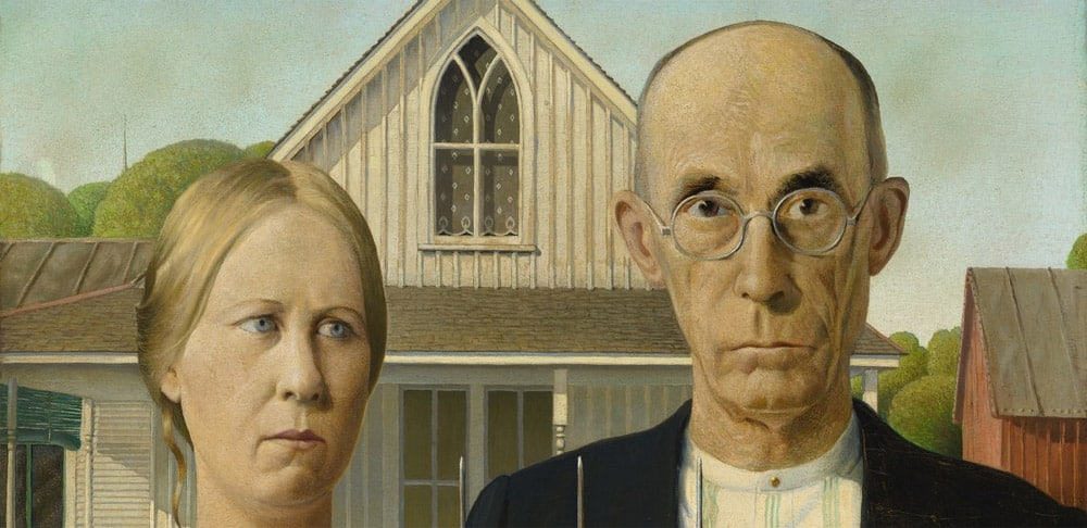 Grant Wood (1891-1942) American Gothic, 1930 © The Art Institute of Chicago