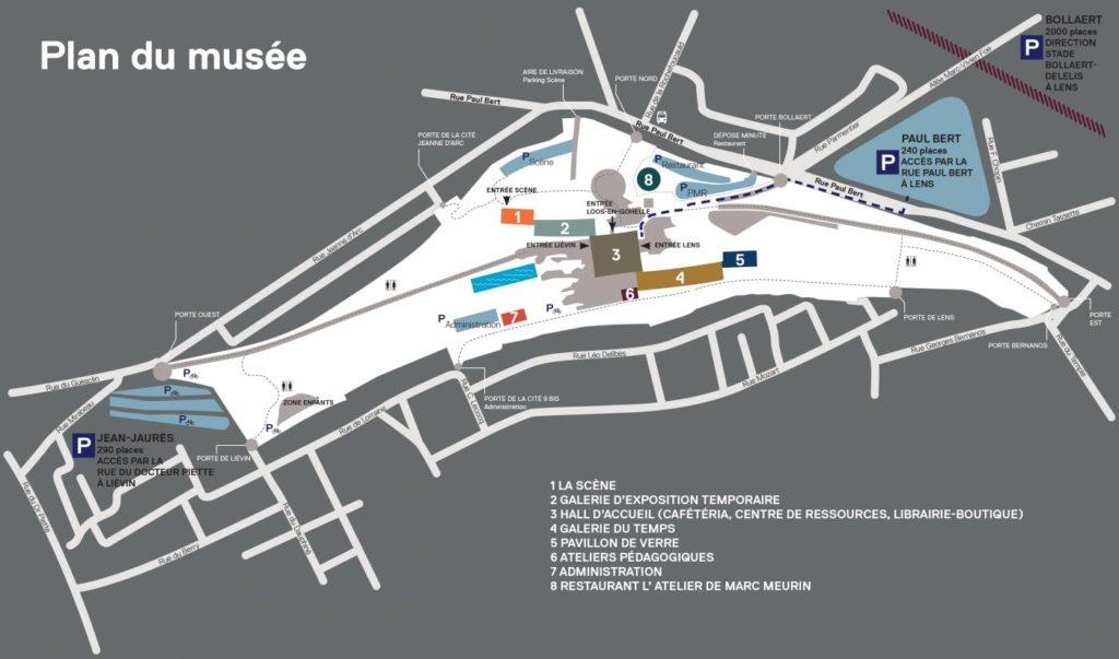 Plan du musée du Louvre Lens