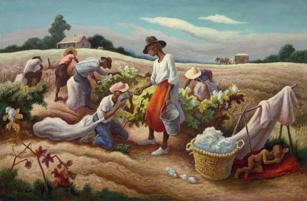 Thomas Hart Benton - Cotton Pickers