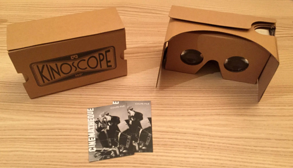 Google Cardboard Kinoscope Cinemathèque