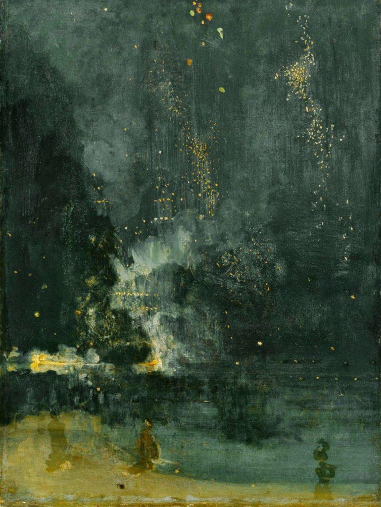 Whistler, Nocturne en noir et or la fusée qui retombe