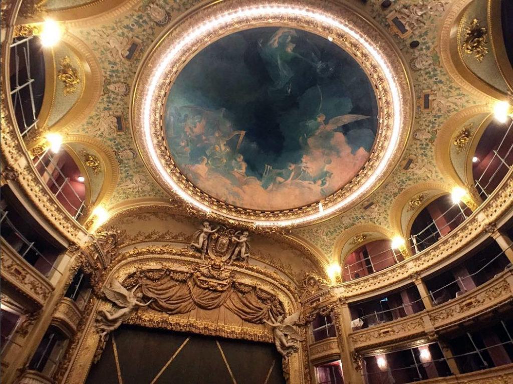 La salle Favart de l'Opéra Comique en travaux