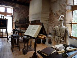 Château du Clos Lucé, reconstitution de l'atelier de Léonard De Vinci