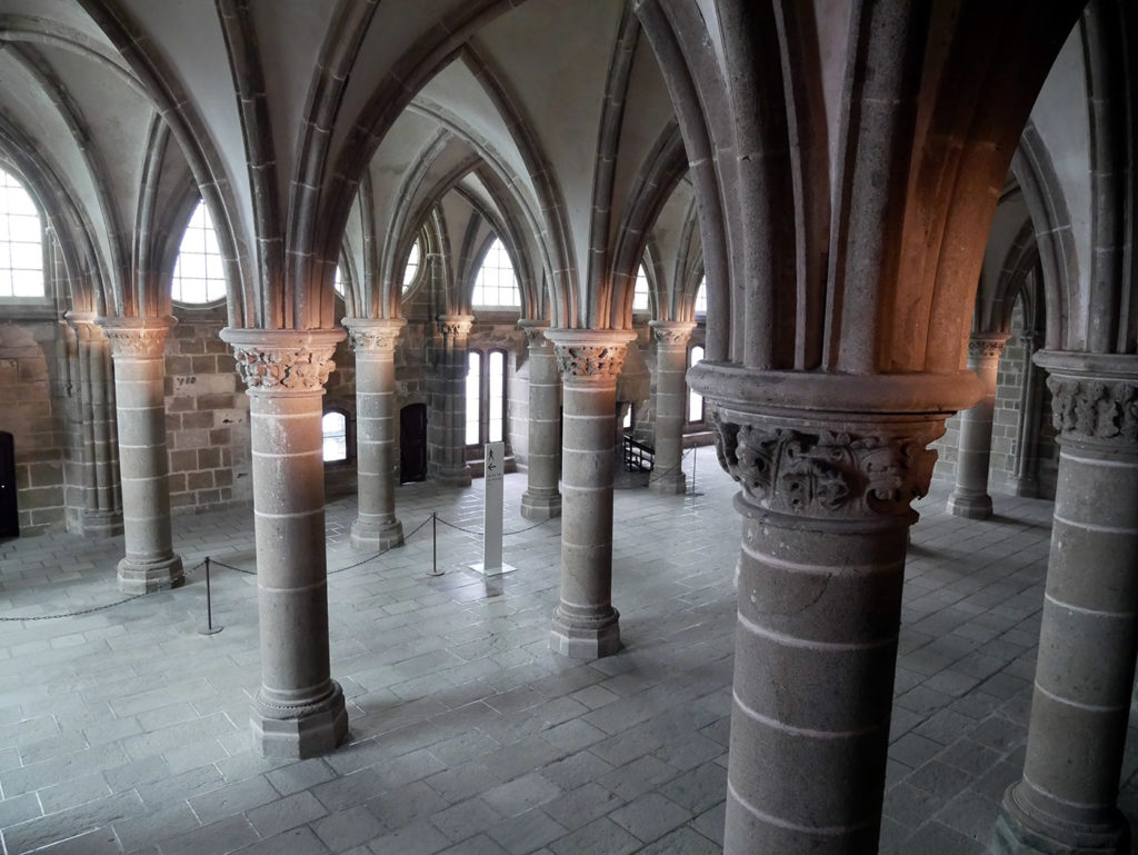Mont-Saint-Michel salle des Chevaliers